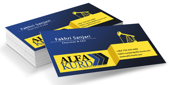 ALFA Kurd business card