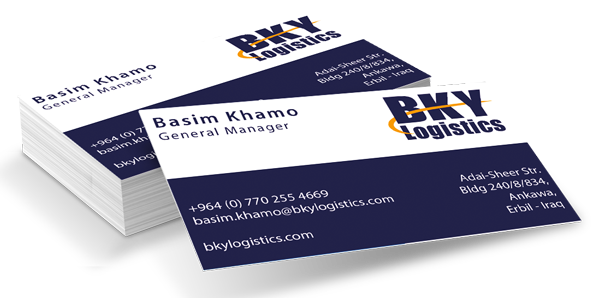BKY Logistics business card