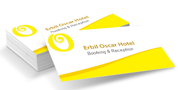 Erbil Oscar Hotel business card