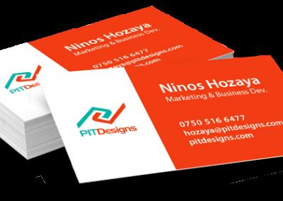 PIT Designs business card