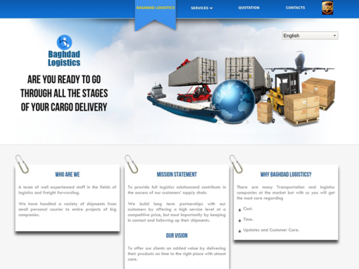 Baghdad Logistics Website