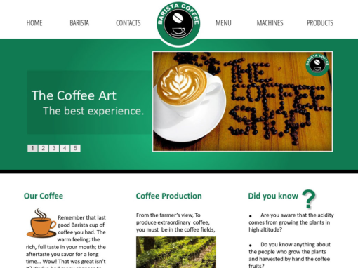 Barista Coffee Shop Website