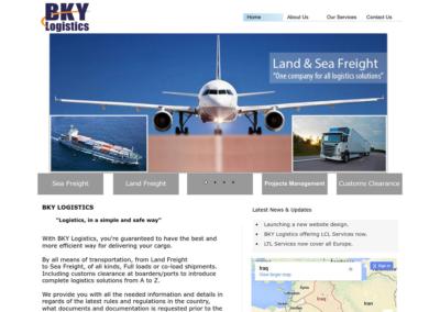BKY Logistics تصميم موقع شركة