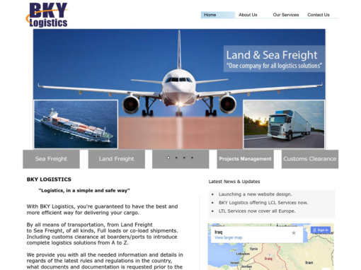 BKY Logistics Website