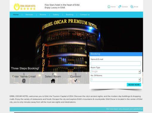 Erbil Oscar Hotel Website