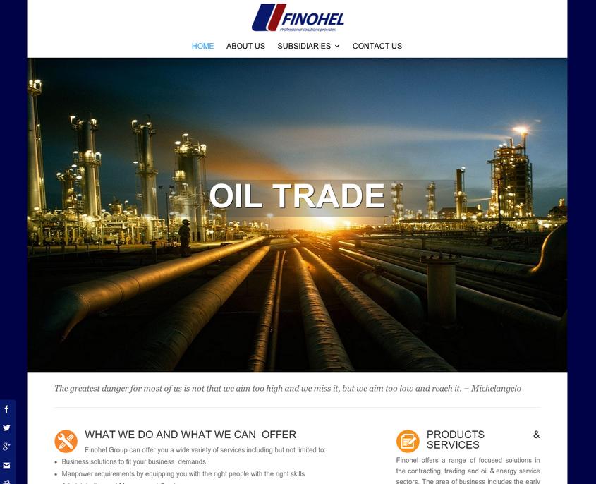 Finohel Company Website