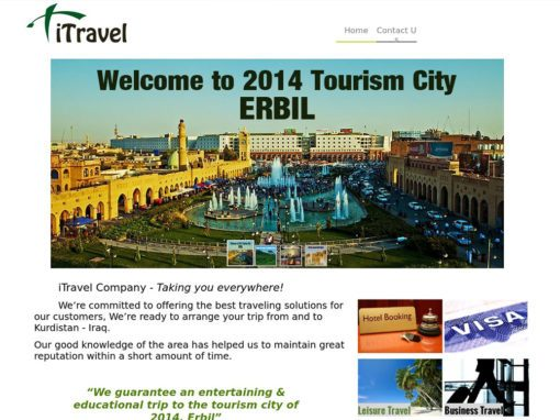 iTravel Erbil Company Website