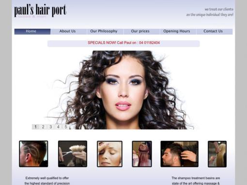 Paul's HairPort Website