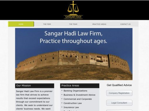 Sangar Law Firm Website