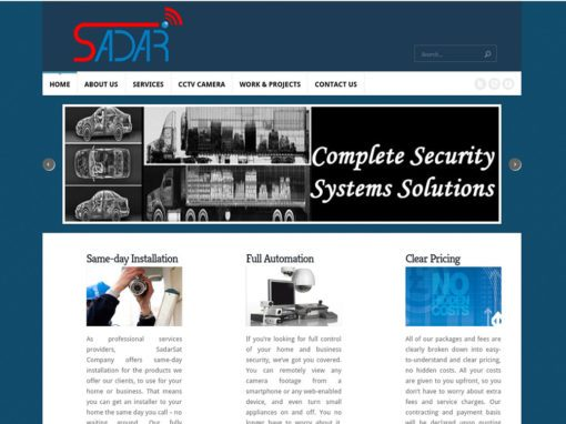 Sadar Sat تصميم موقع شركة