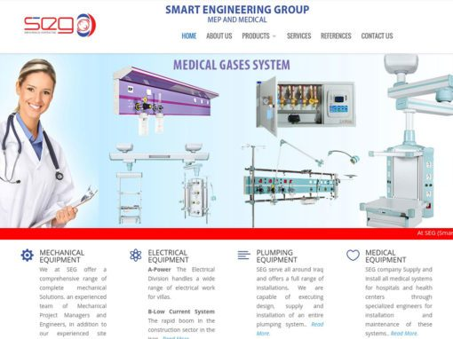 Smart Engineering Group تصميم موقع