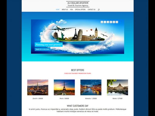 Al Chalabi Aviation Company Website