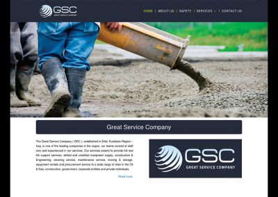 Great Service Company Website