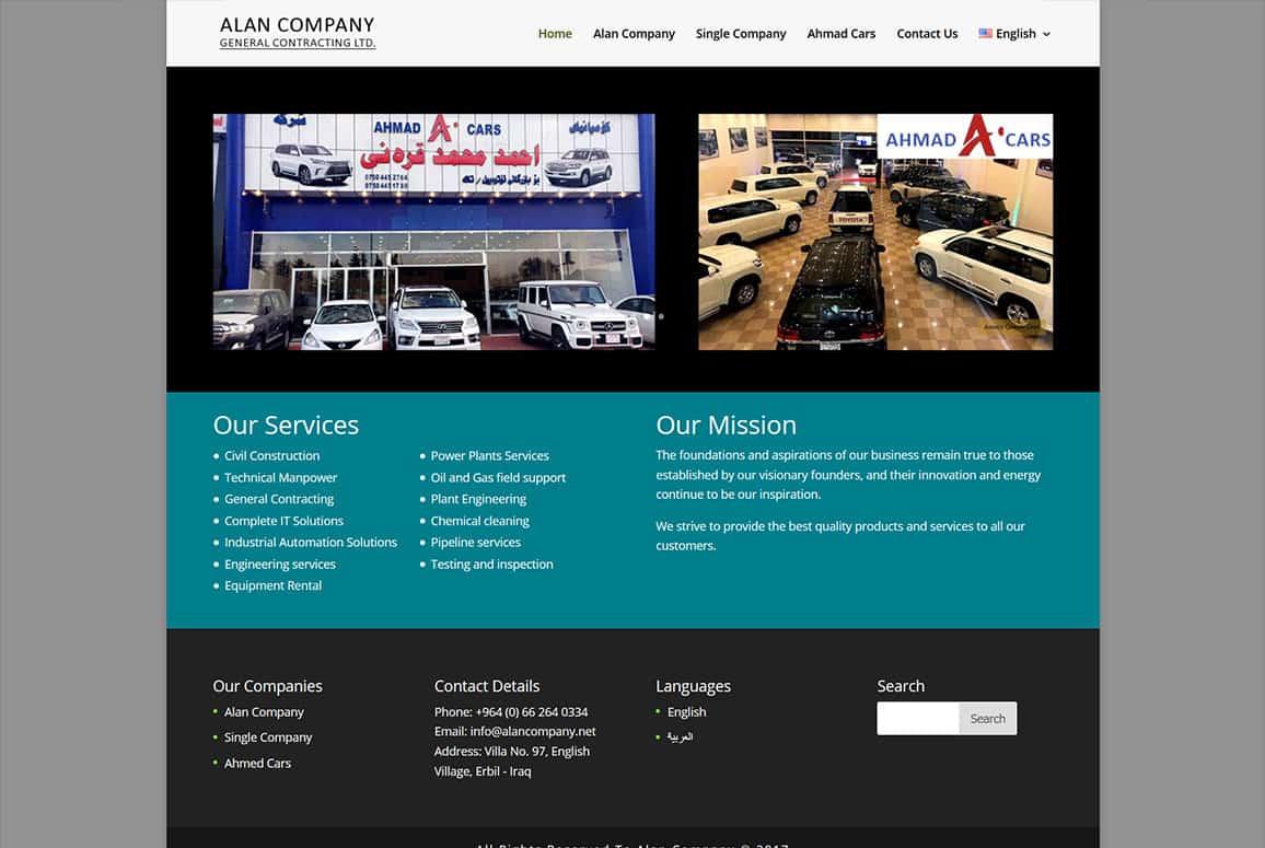 Alan Company Website