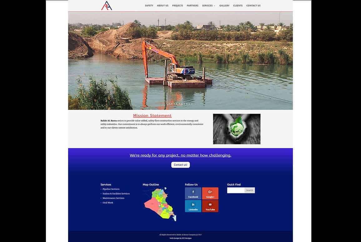 Rafah Al Basra Company Website