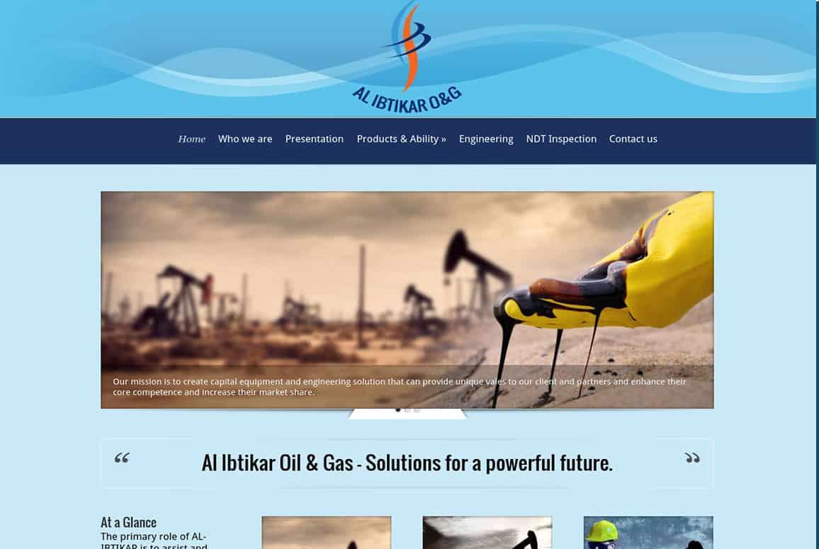 Al Ibtikar O&G Company Website