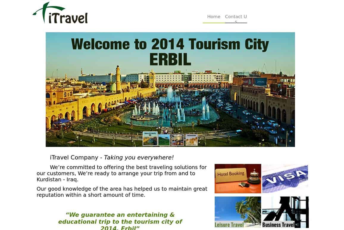 iTravel Erbil Company Website