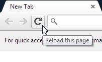 Chrome Refresh Button