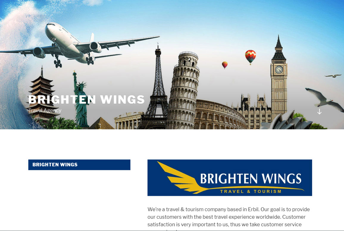Braighten Wings Travel Website