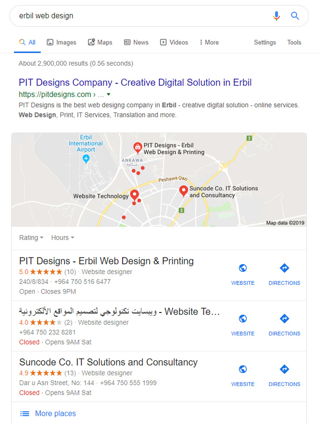 Erbil Web Design Google Search