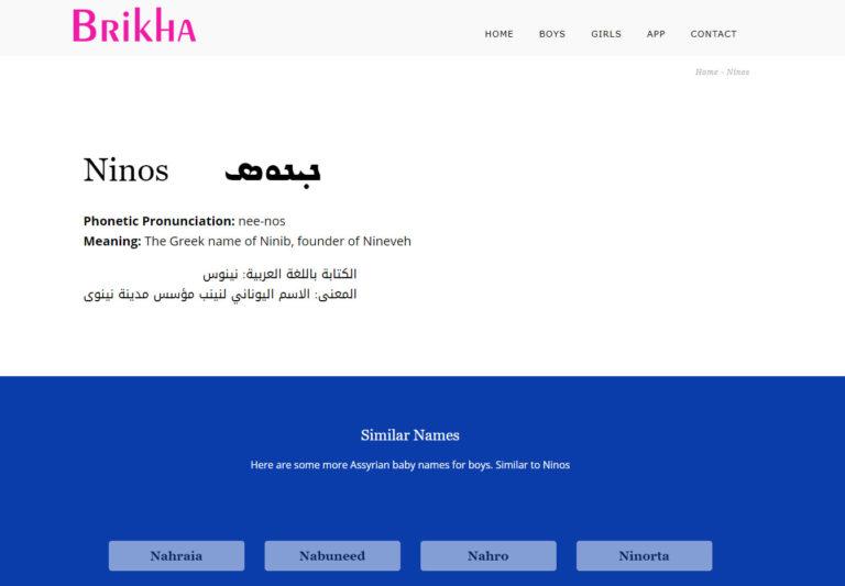 Brikha Baby Names