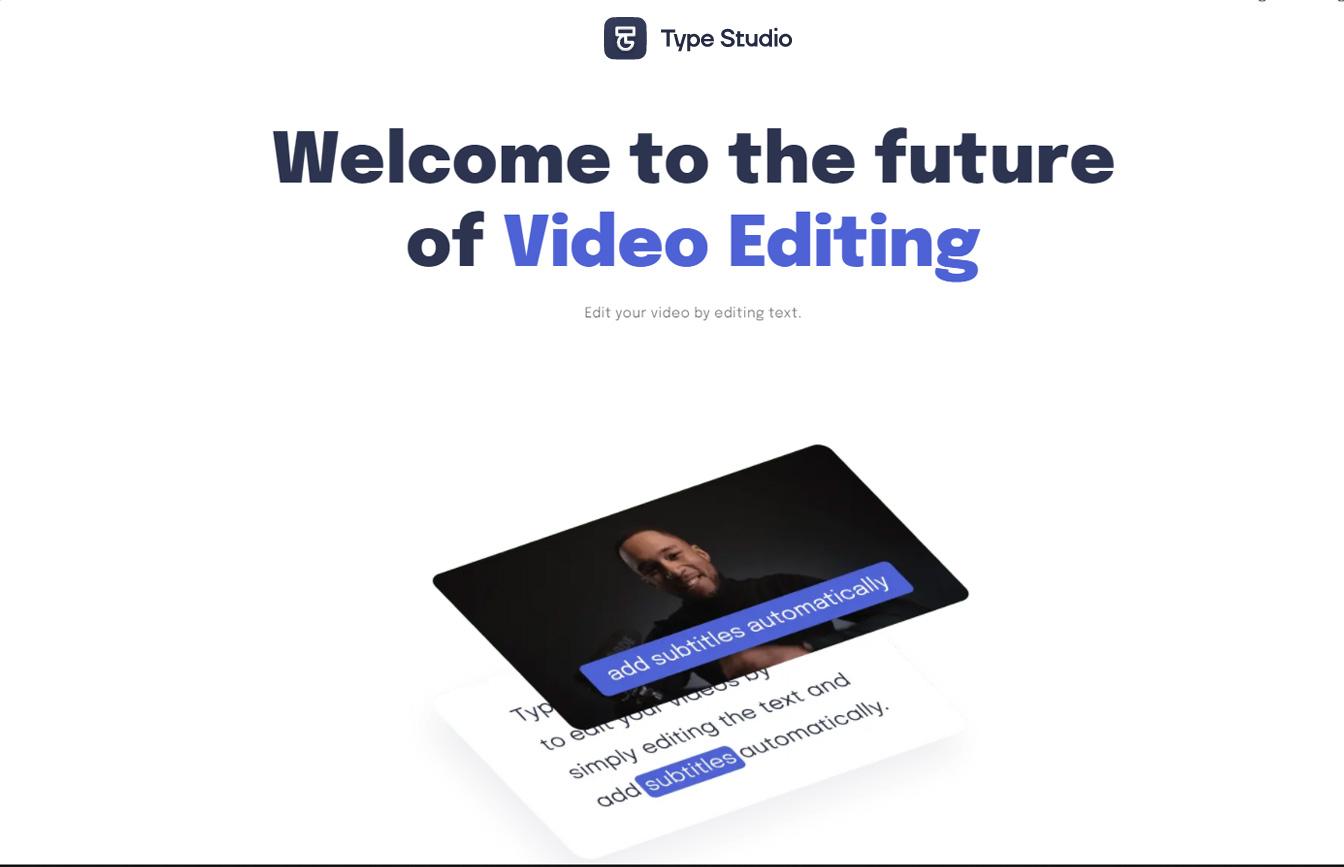 Type Studio Video Editing