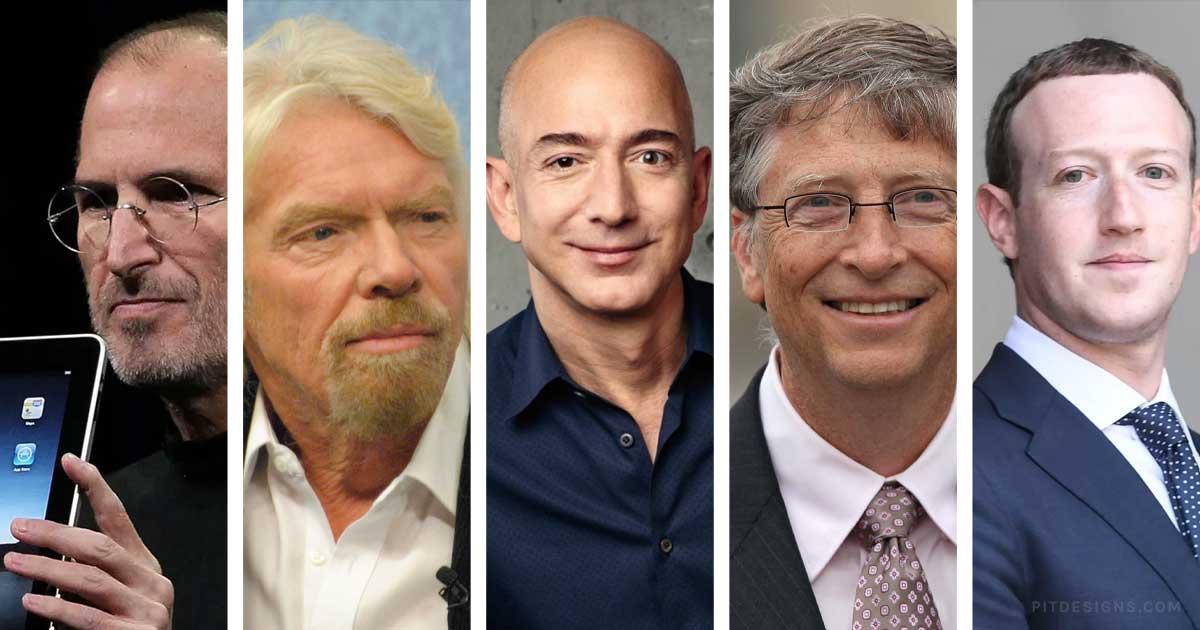 5 Famous Entrepreneurs & Their Way to Success