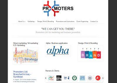 Promoters تصميم موقع شركة